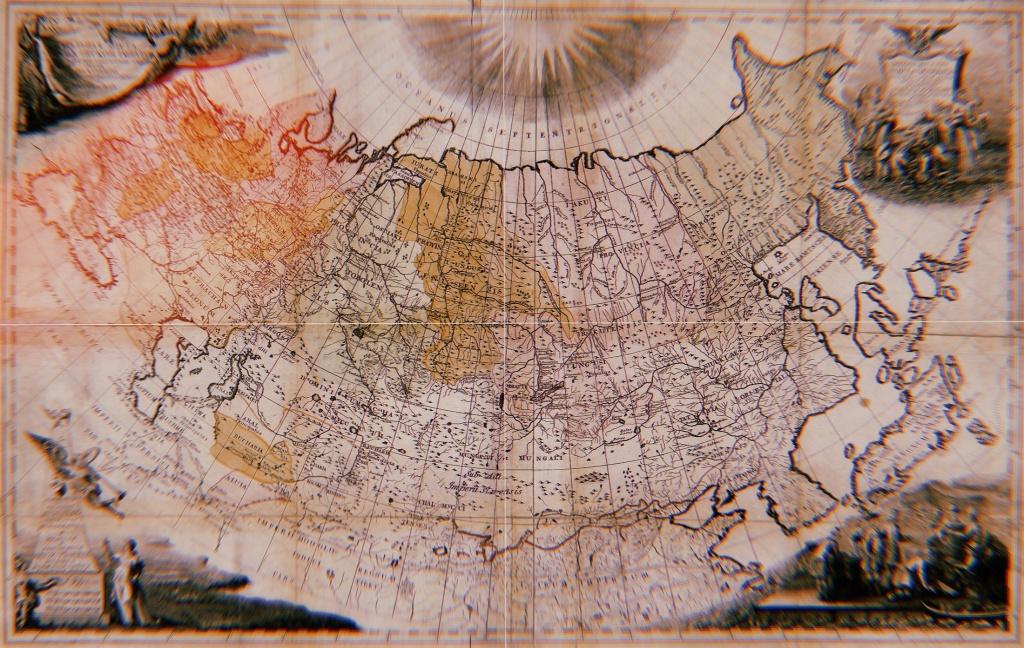 Первая карта российской империи